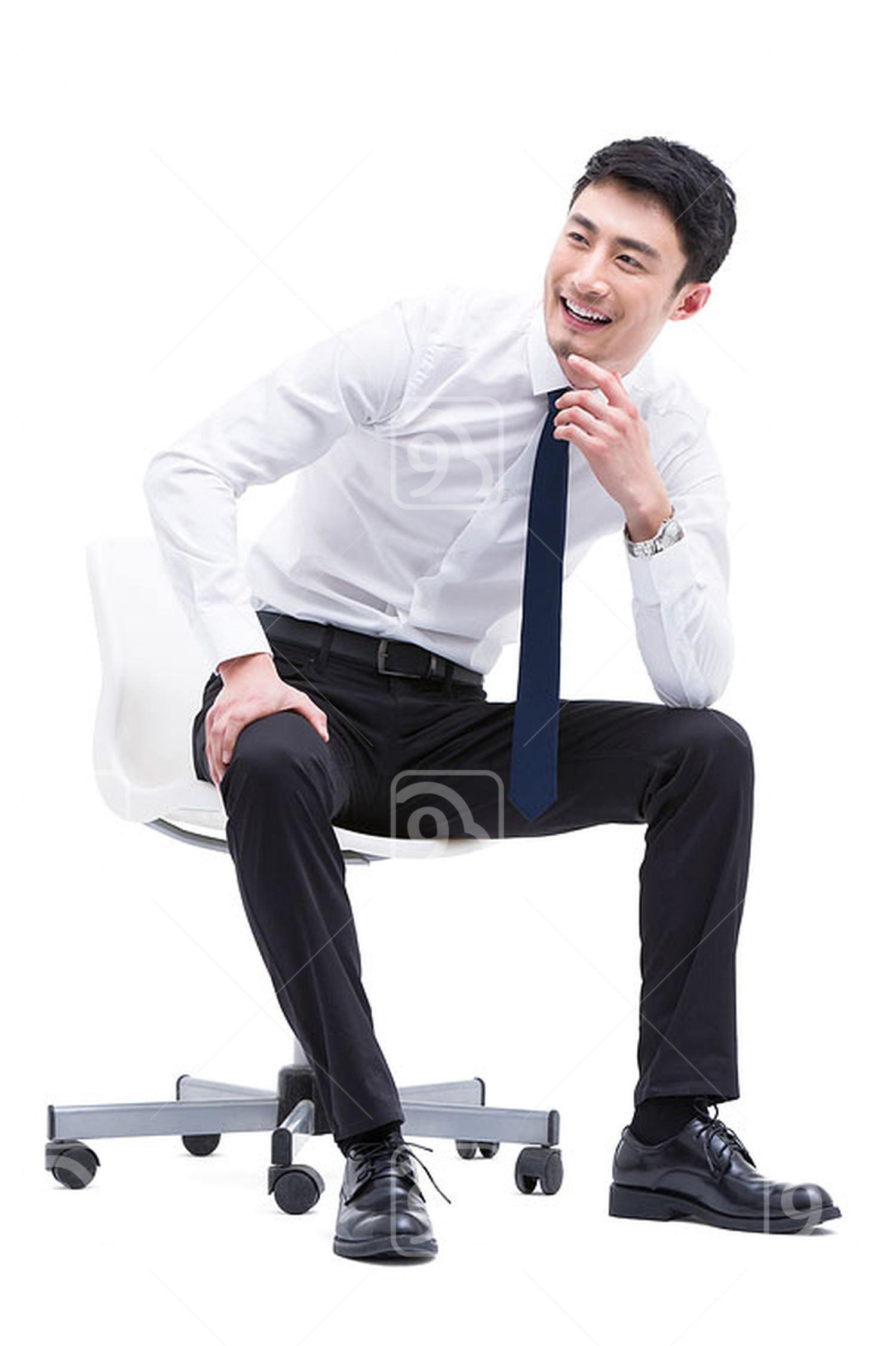 Happy young Chinese businessman