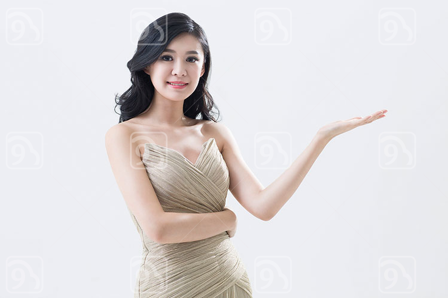Portrait of elegant young Chinese woman