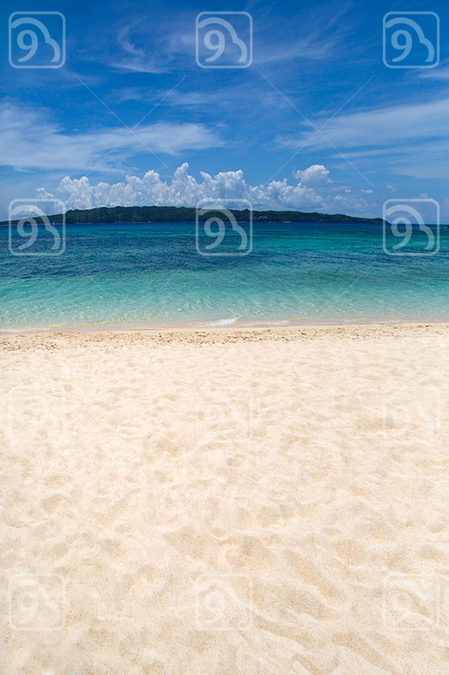 Tropical beach scene, Boracay island, Philippines
