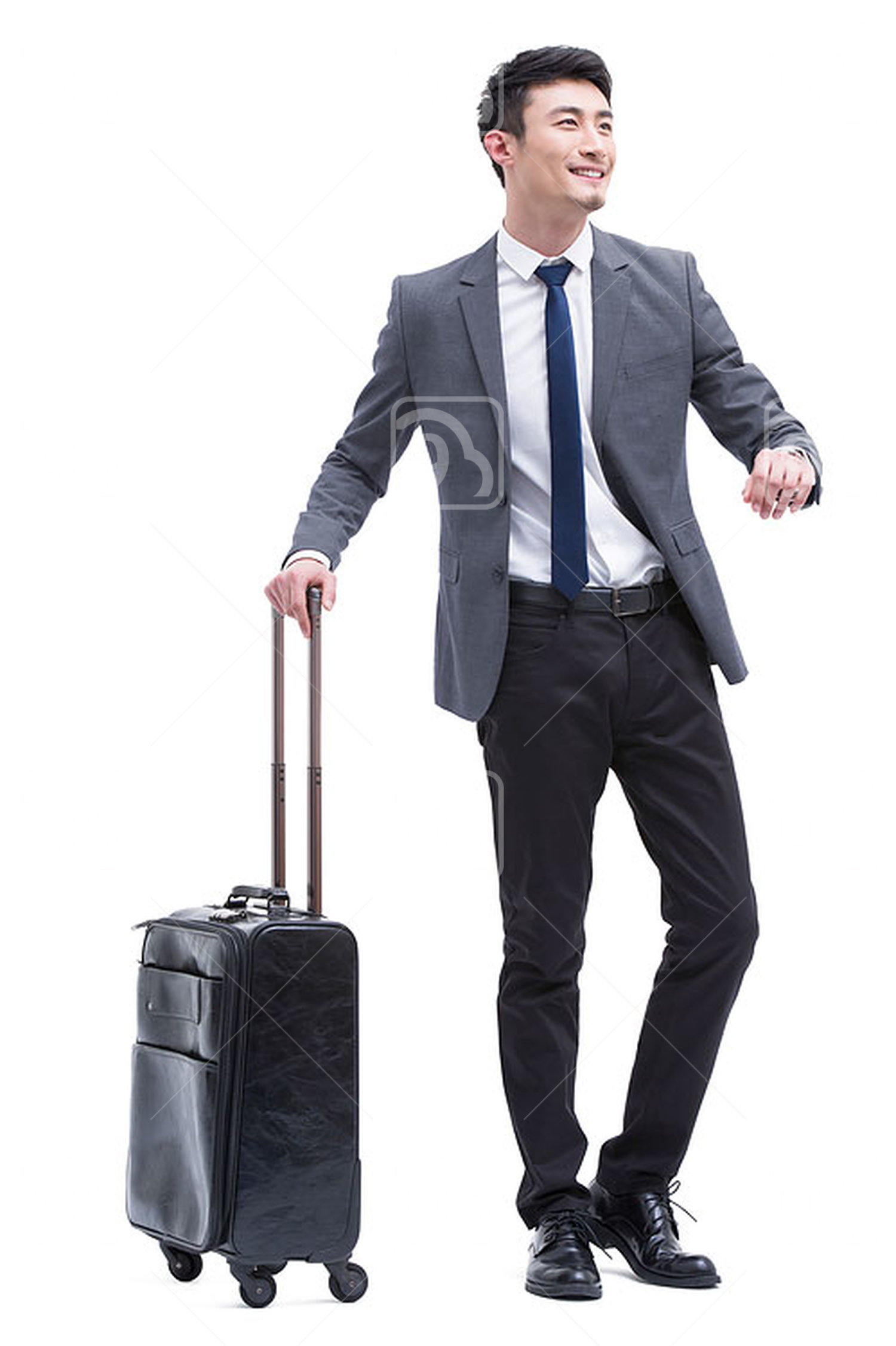 Fashionable Chinese businessman in travel