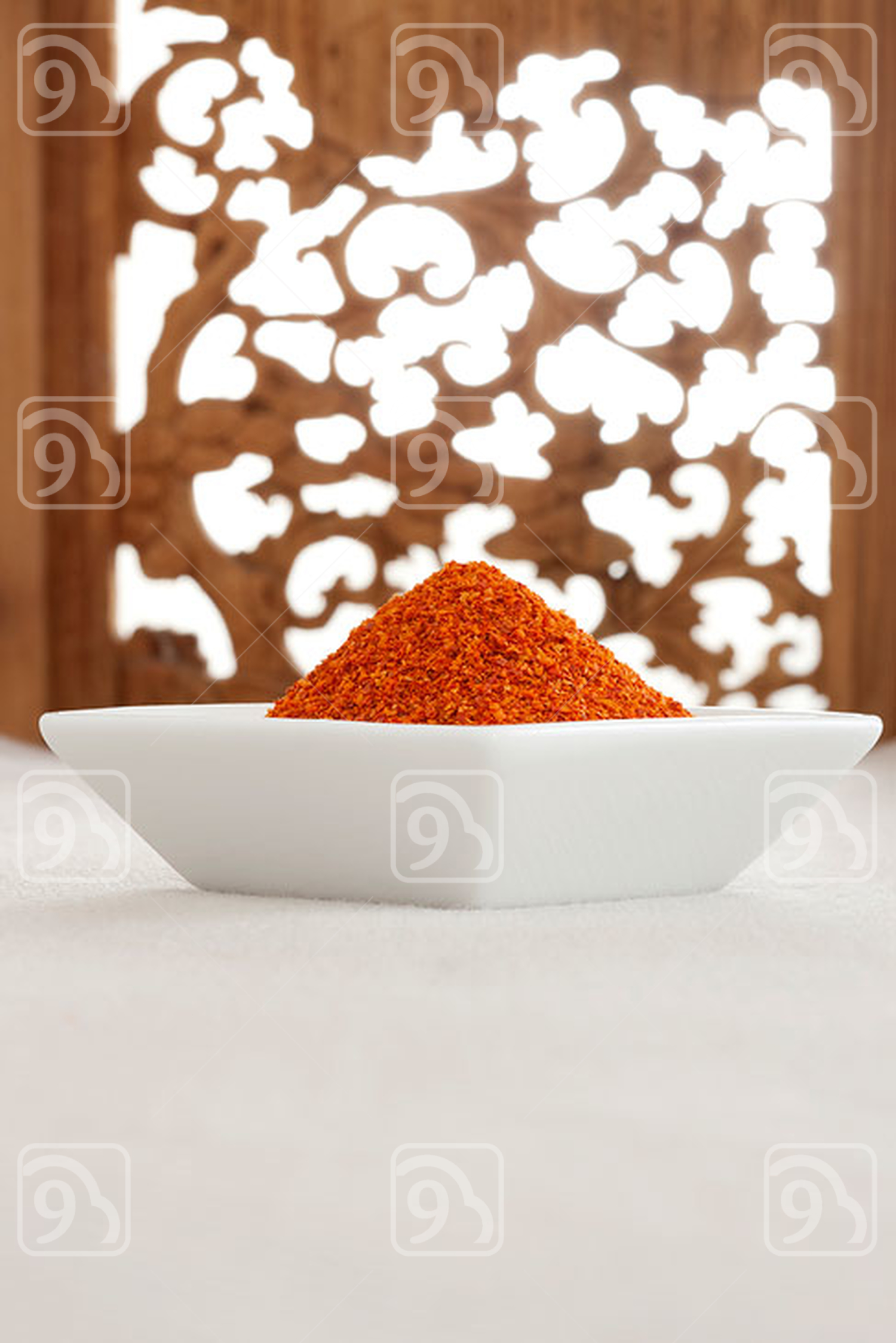 Close-up of red chilli powder