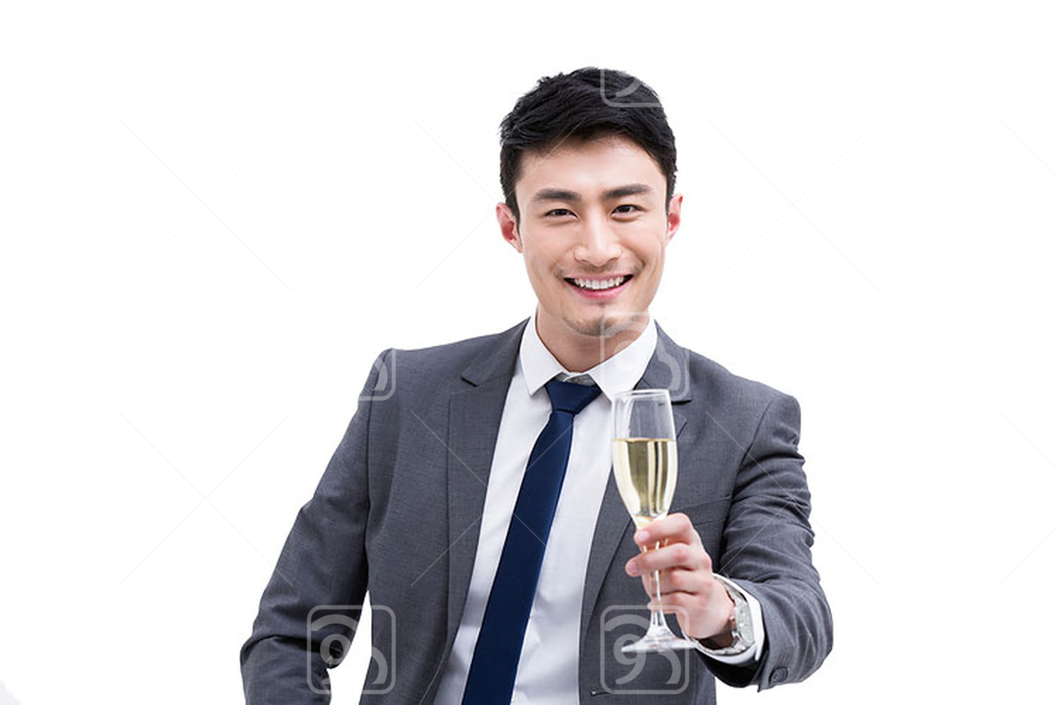 Young Chinese businessman toast