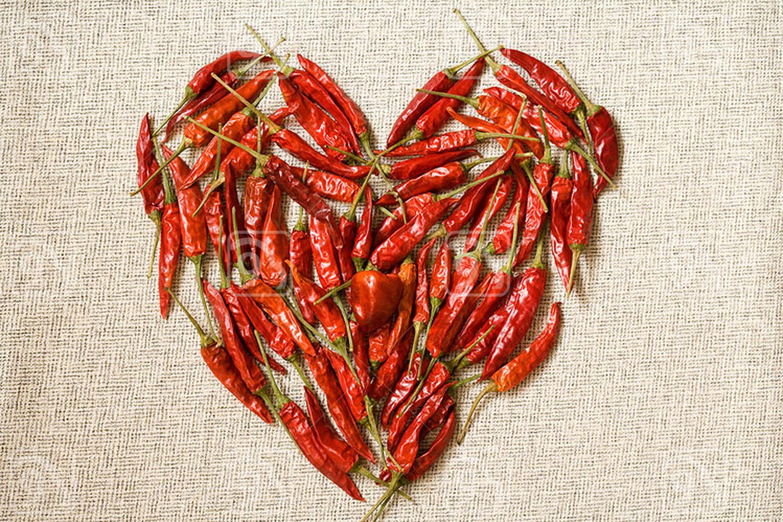 Heart shape of dry Chili Pepper