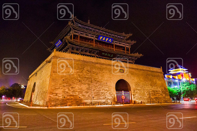 Drum tower in Zhangye, China