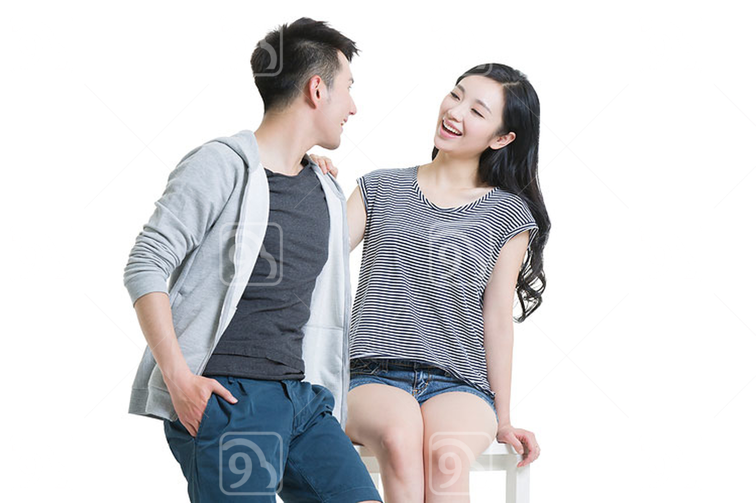 Happy young Chinese couple