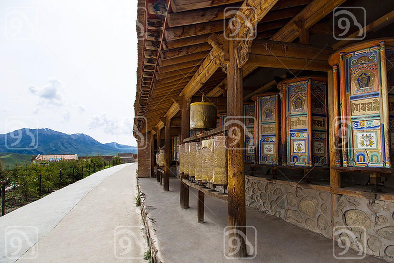 Prayer Wheel in Qinghai province, China