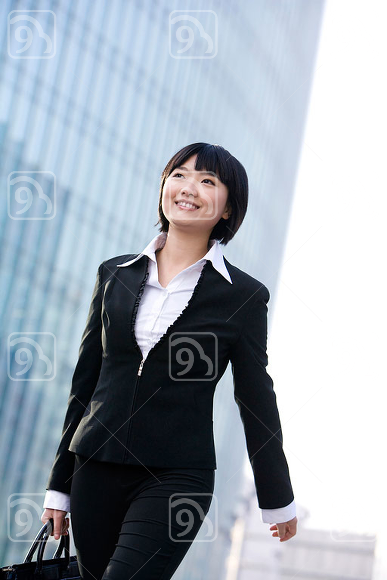 Chinese businesswoman going to office