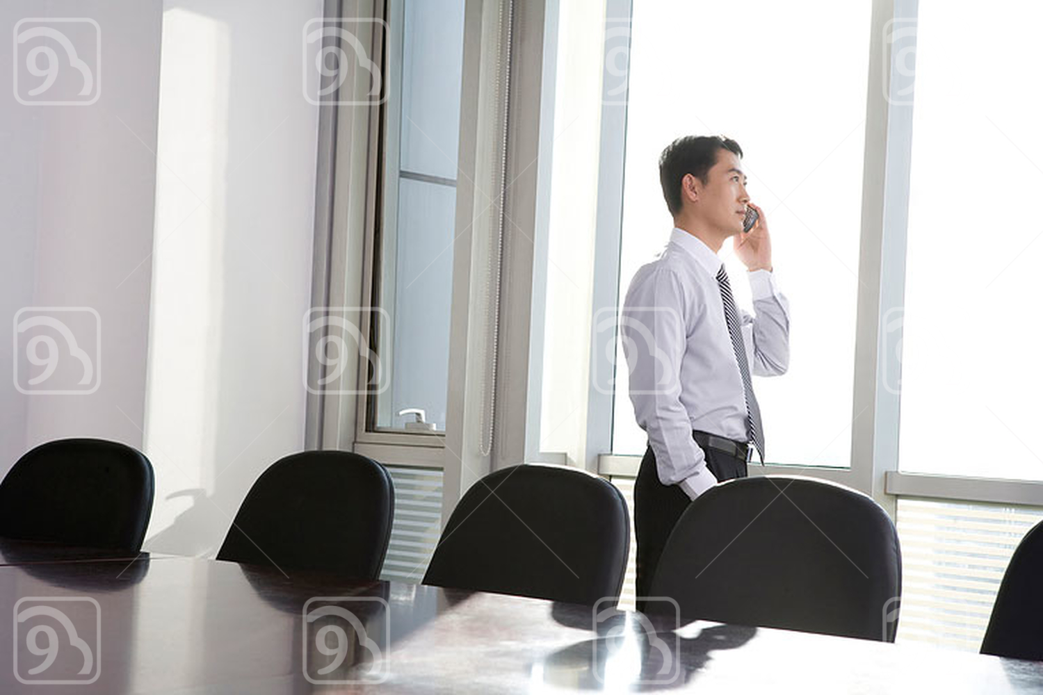 Chinese businessman in a conference room
