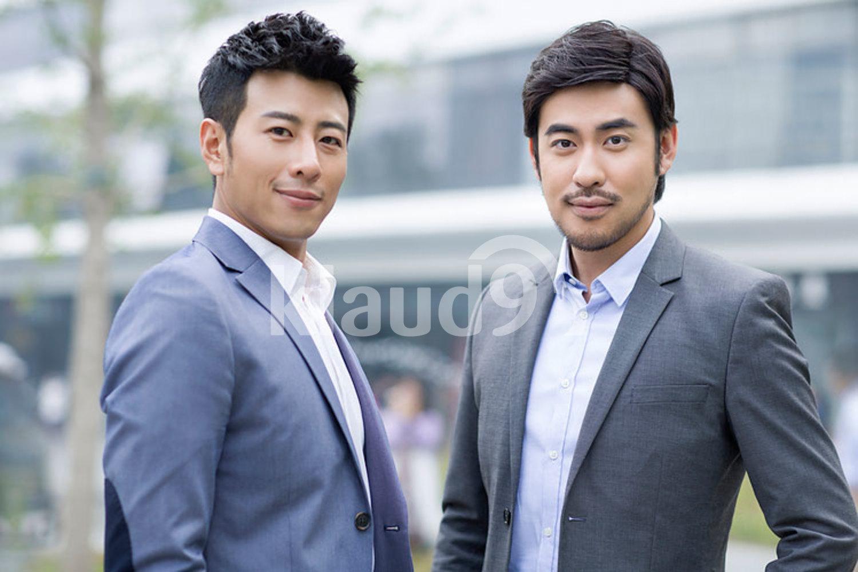 Portrait of confident Chinese businessmen