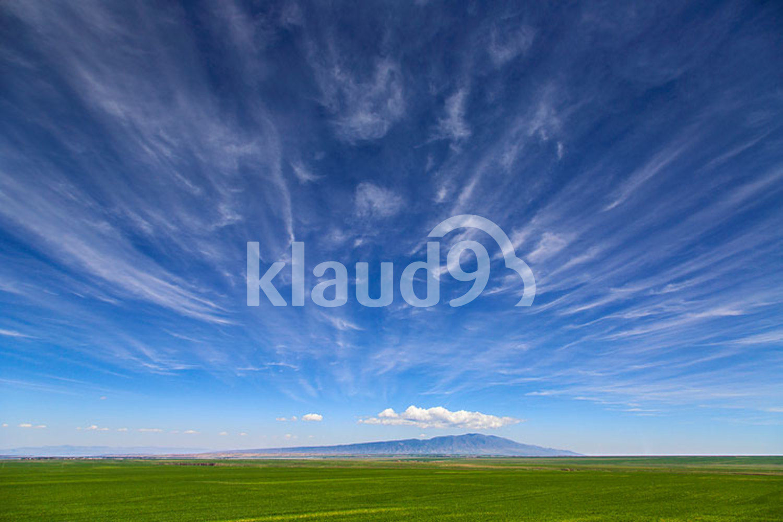 Sky and field in Gansu province, China