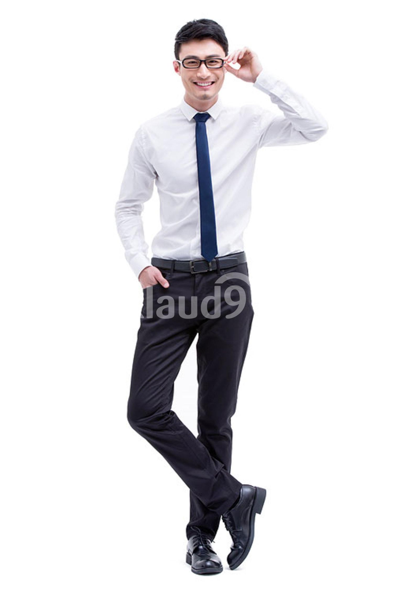 Portrait of fashionable Chinese businessman