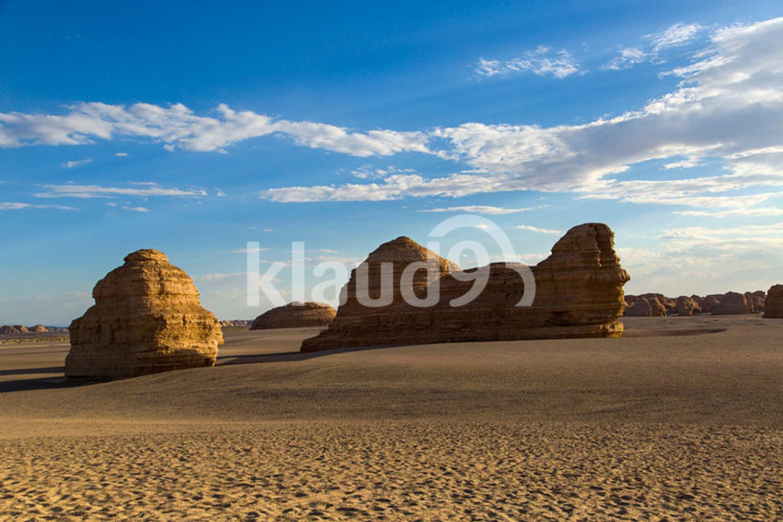 Yardang landform in Gansu province, China