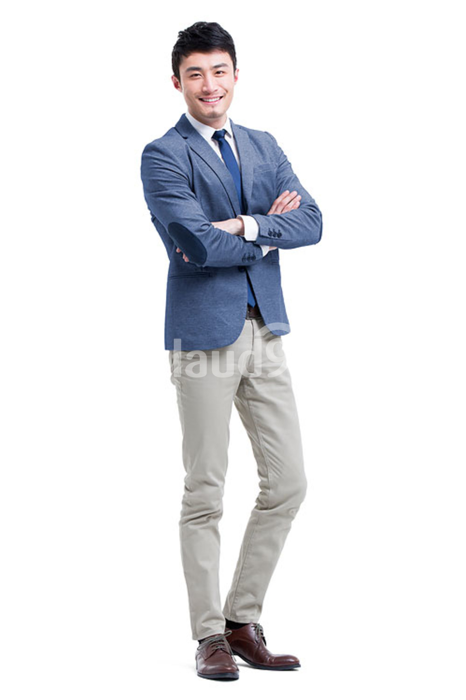 Young Chinese businessman arms crossed