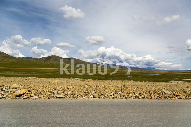Road in Gansu province, China