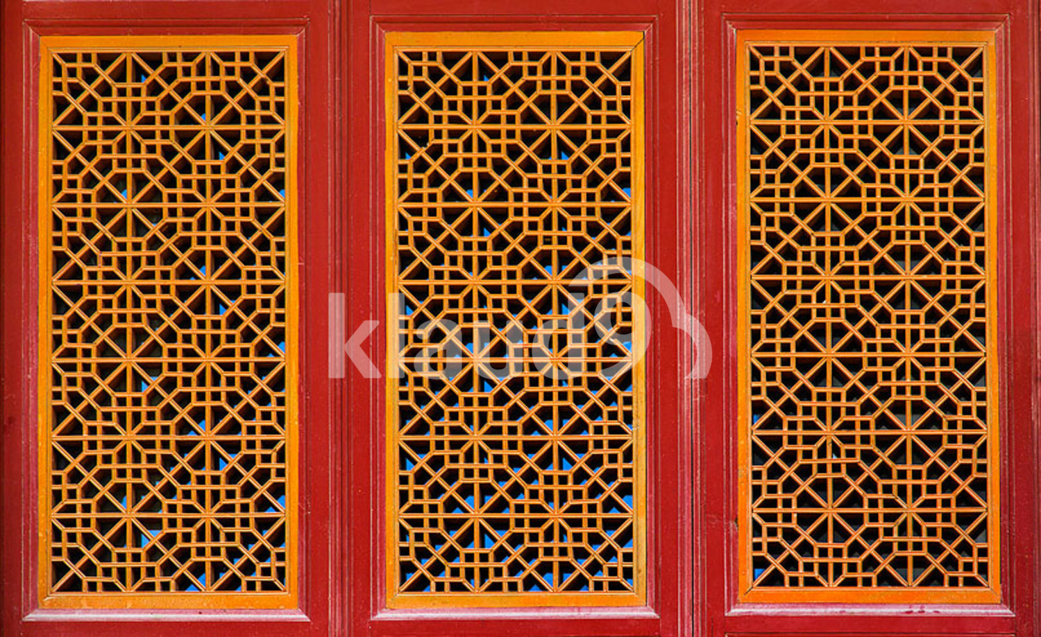 Chinese ancient wooden window