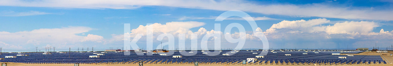 Solar power station in Gansu province, China