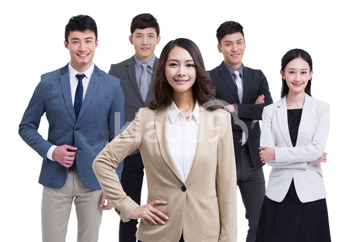 Group of successful Chinese business people