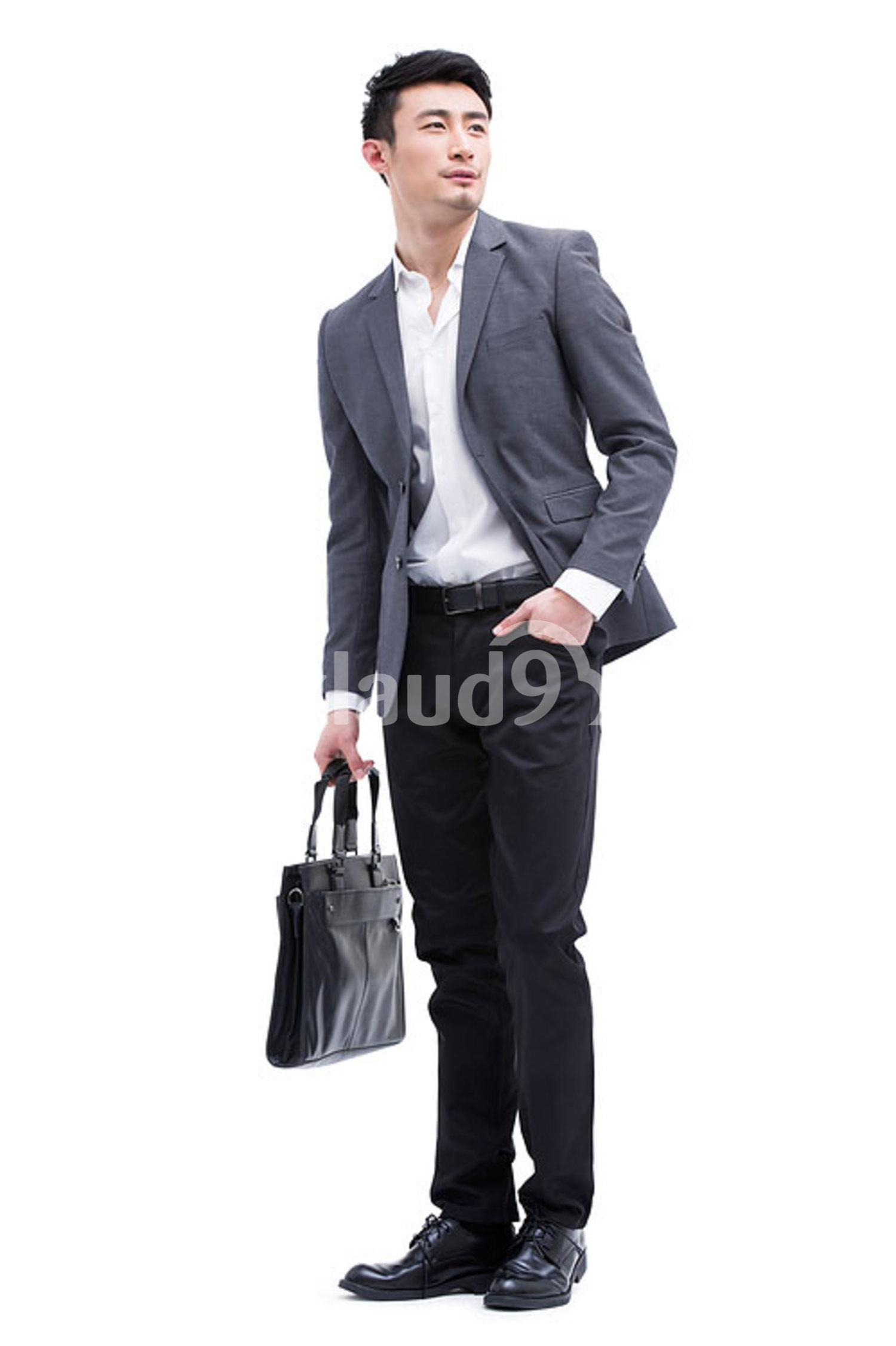 Fashionable Chinese businessman on the move