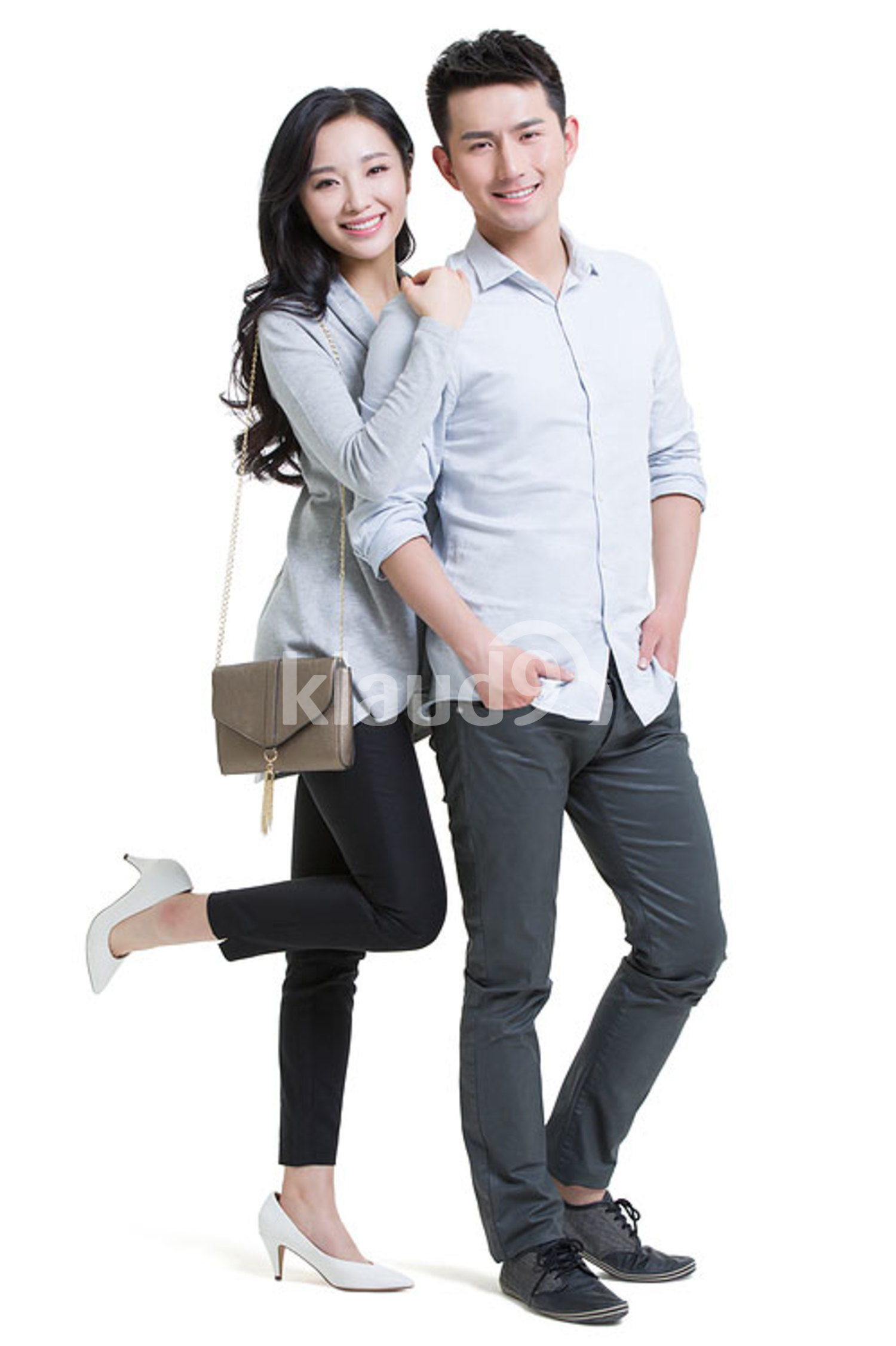 Portrait of happy young Chinese couple