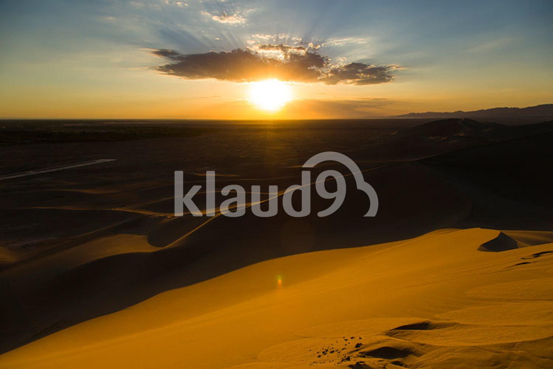 Sunrise over desert