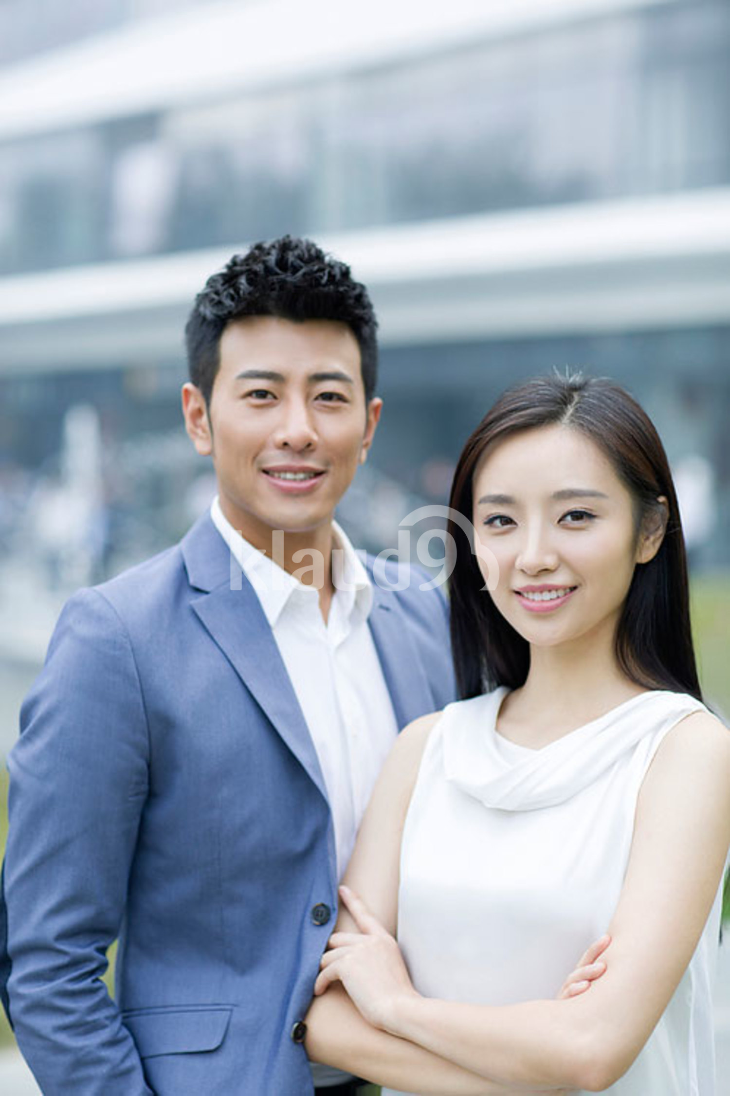 Portrait of confident Chinese businesspeople