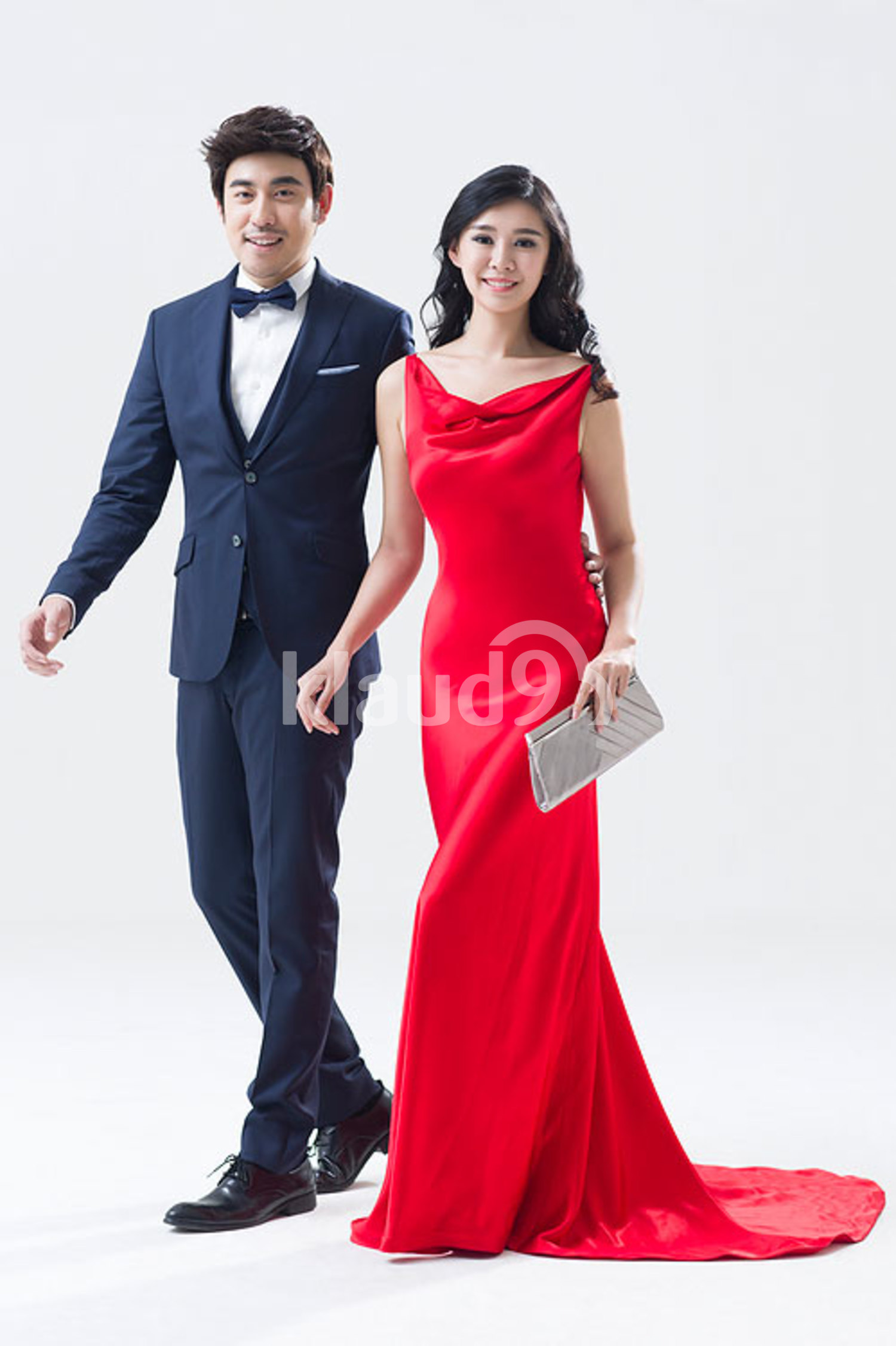 Portrait of elegant young Chinese couple