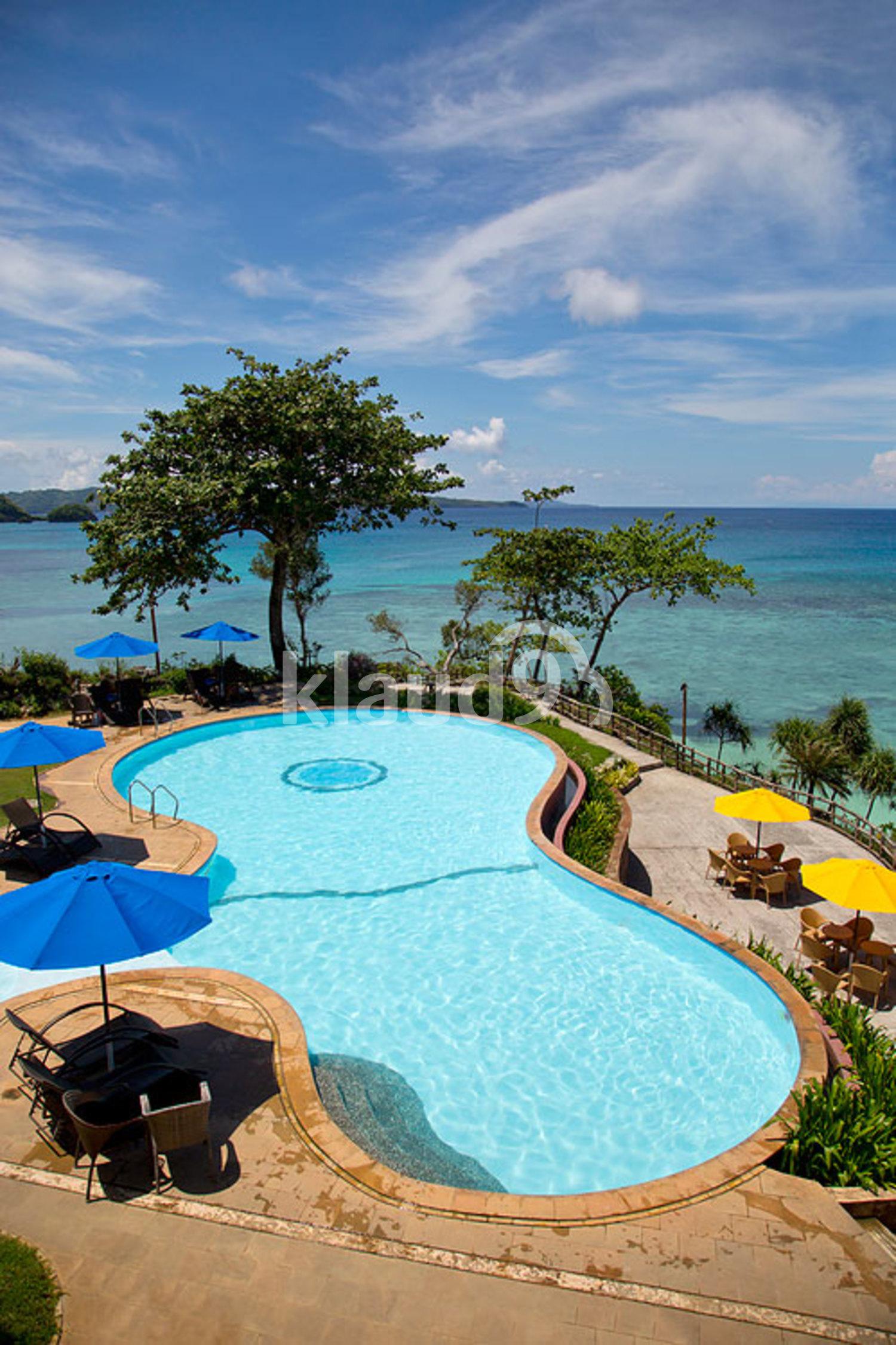 Swimming pool on Boracay island, Philippines