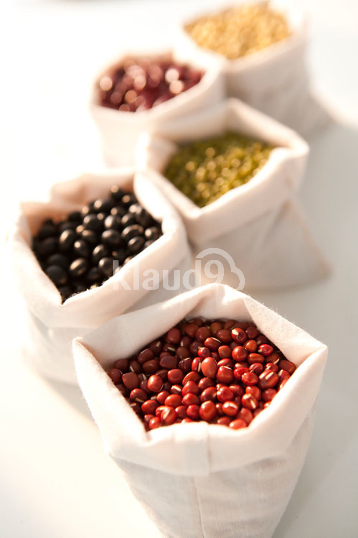 Close-up of different beans
