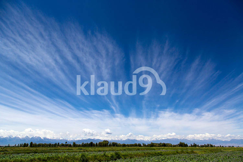Qilian mountain and sky in Gansu province, China