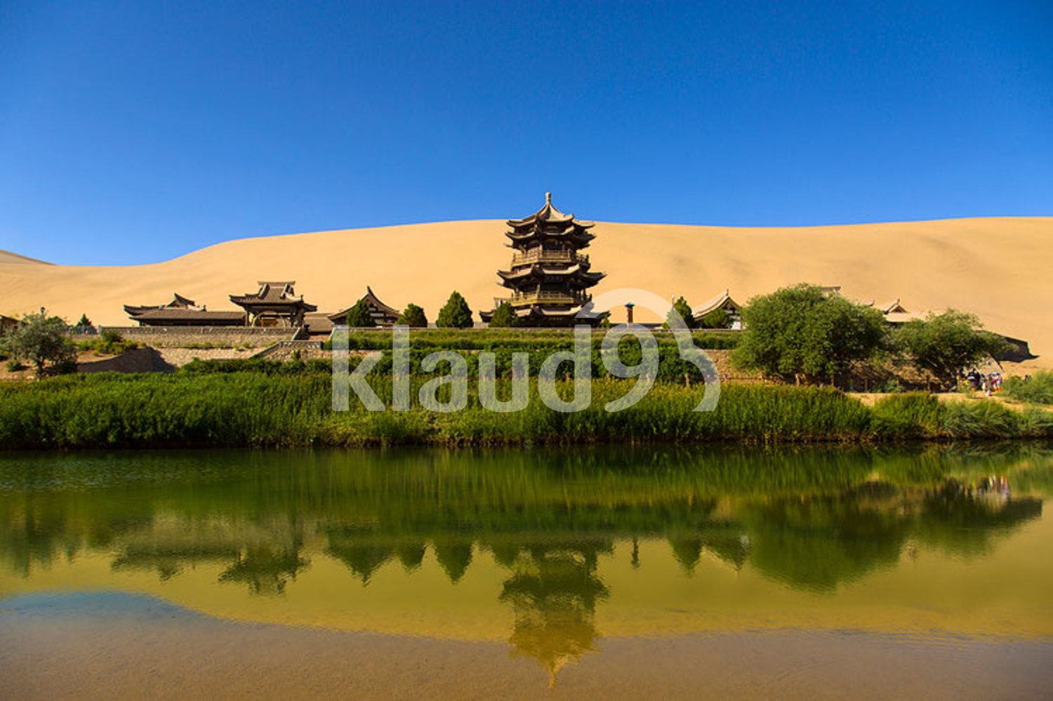 Crescent lake in Dunhuang, China