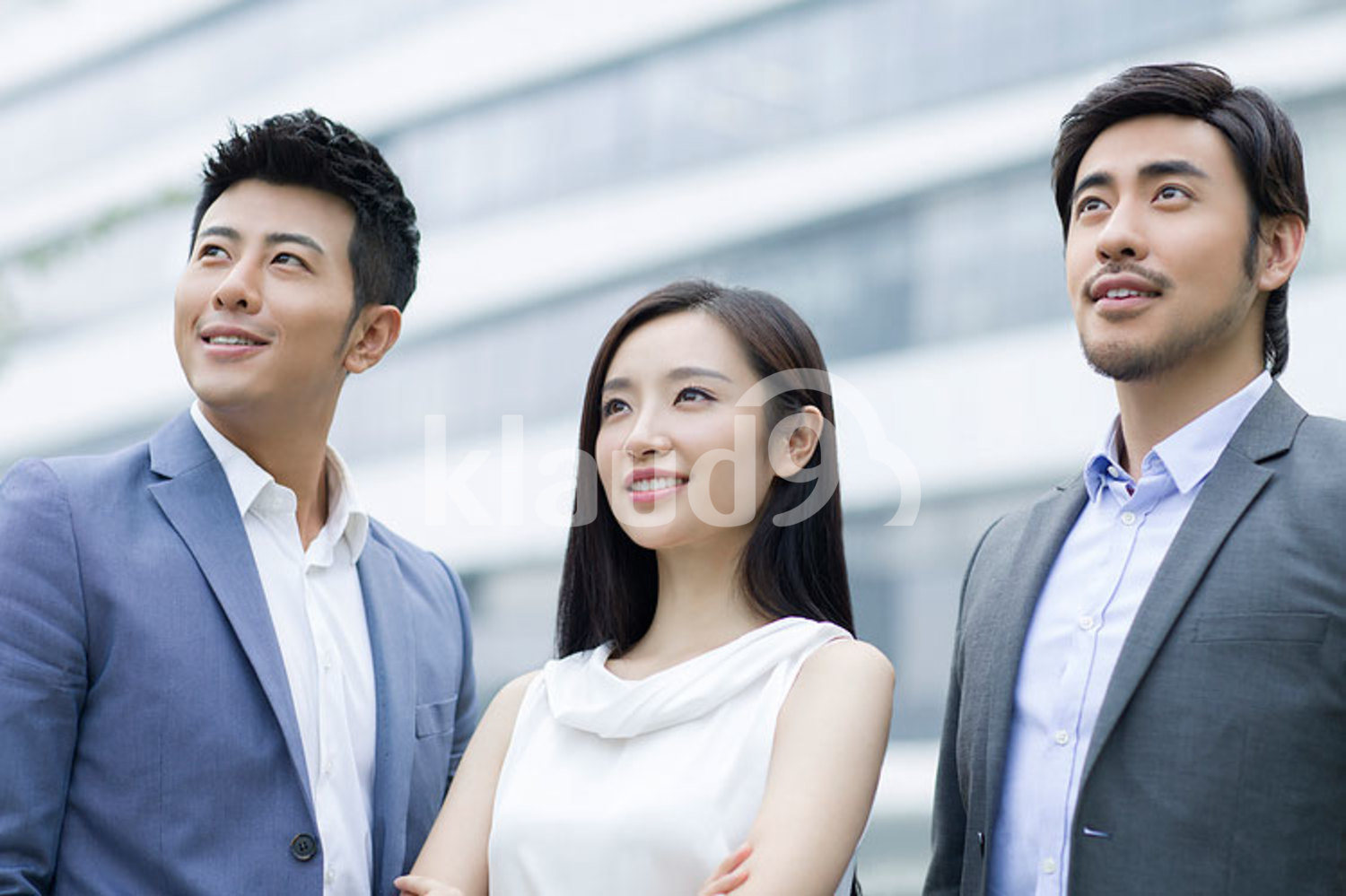 Confident Chinese business team