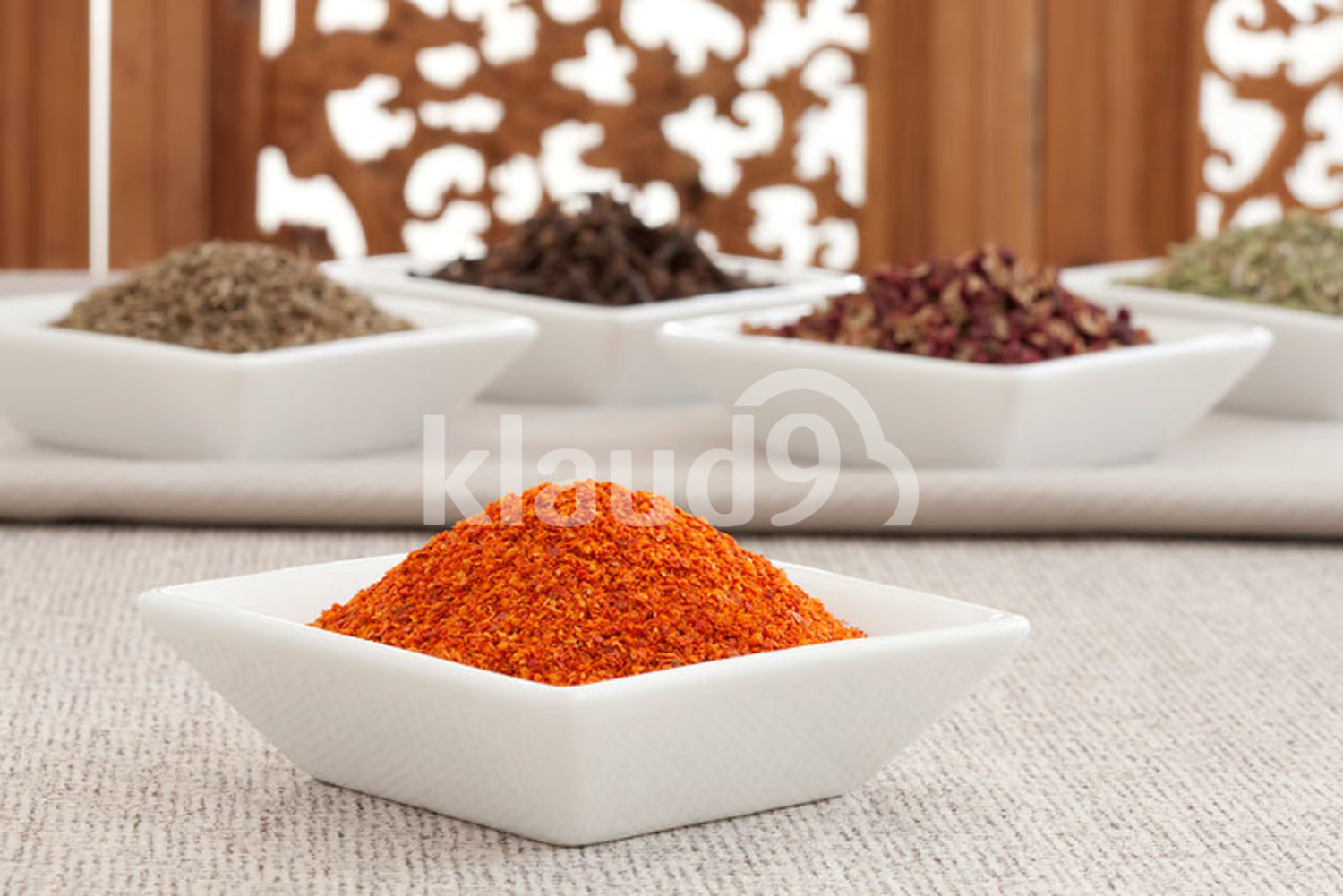 Close-up of different spices