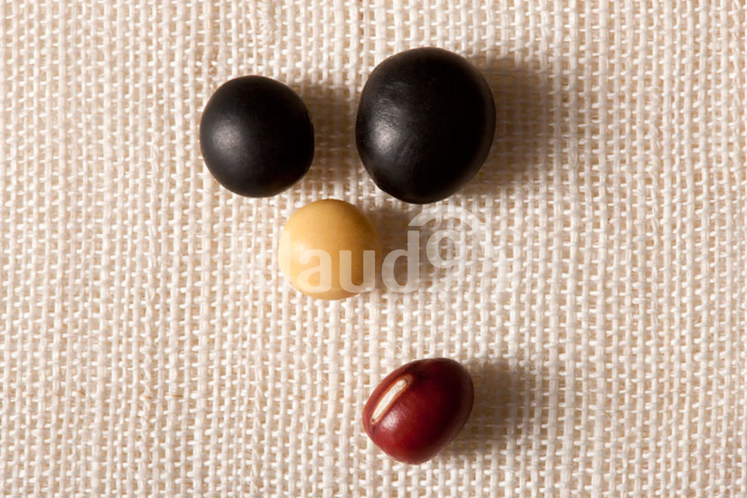 Close-up of a creative face made of different beans