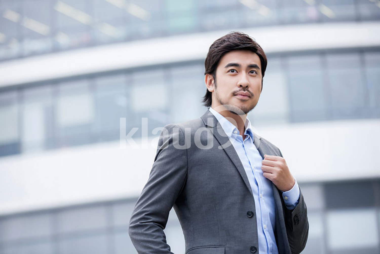 Confident Chinese businessman