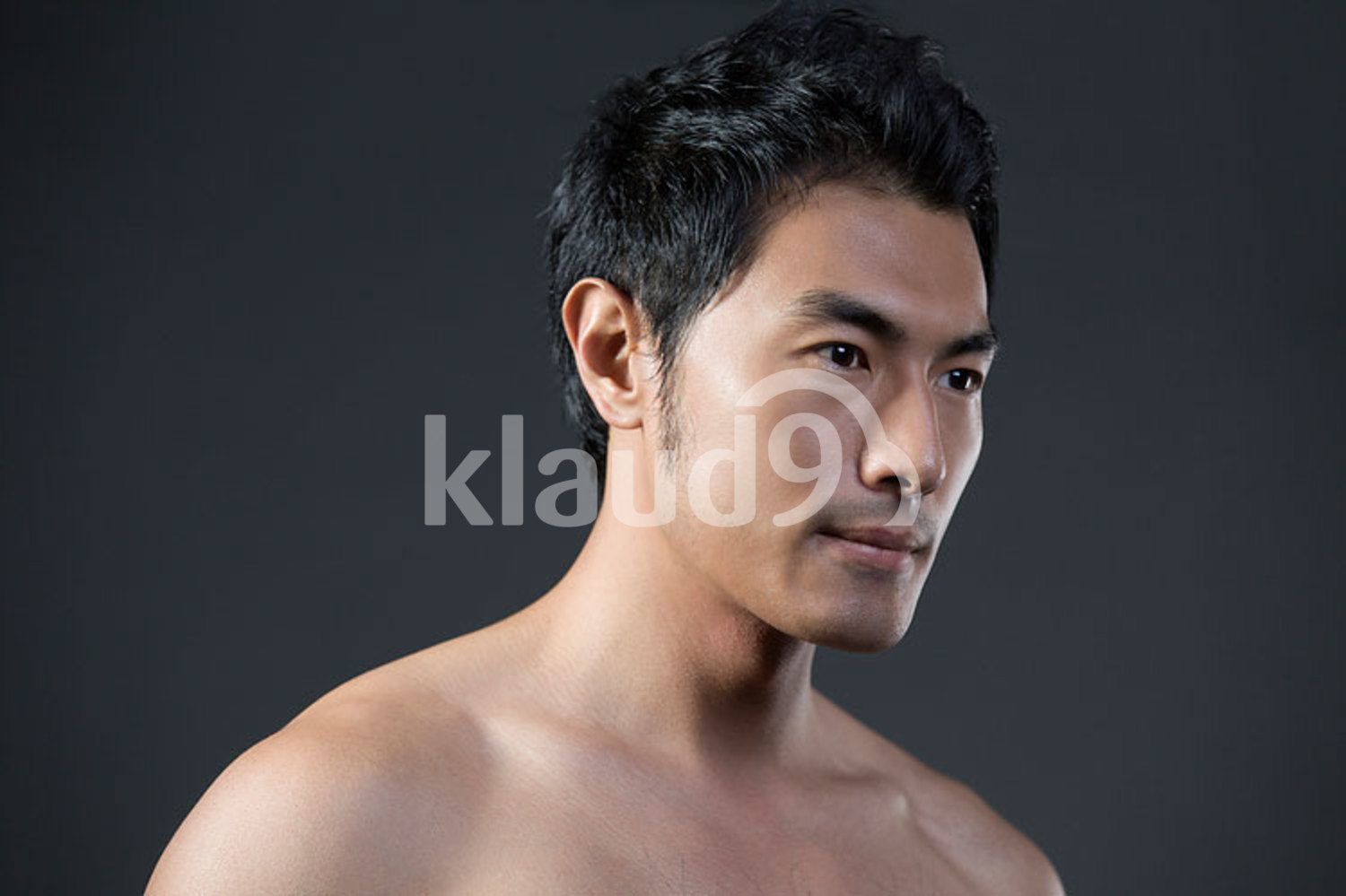Young Chinese man with fresh skin