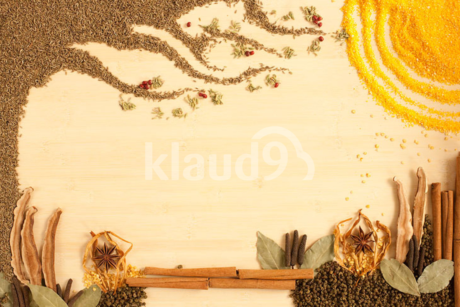 Creative painting made of different spices