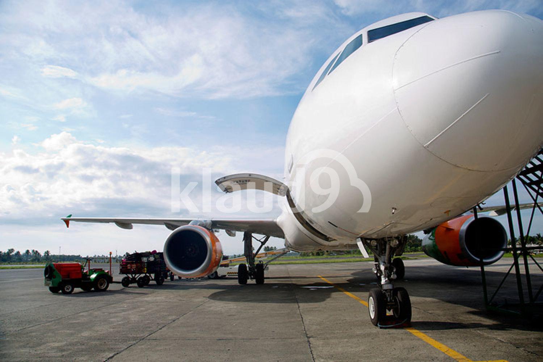 Airplane at Kalibo airport, Philippines