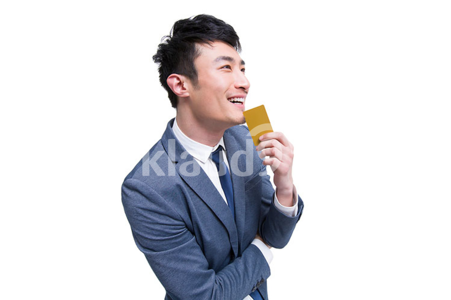 Chinese businessman with credit card