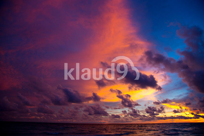 Sea in the twilight