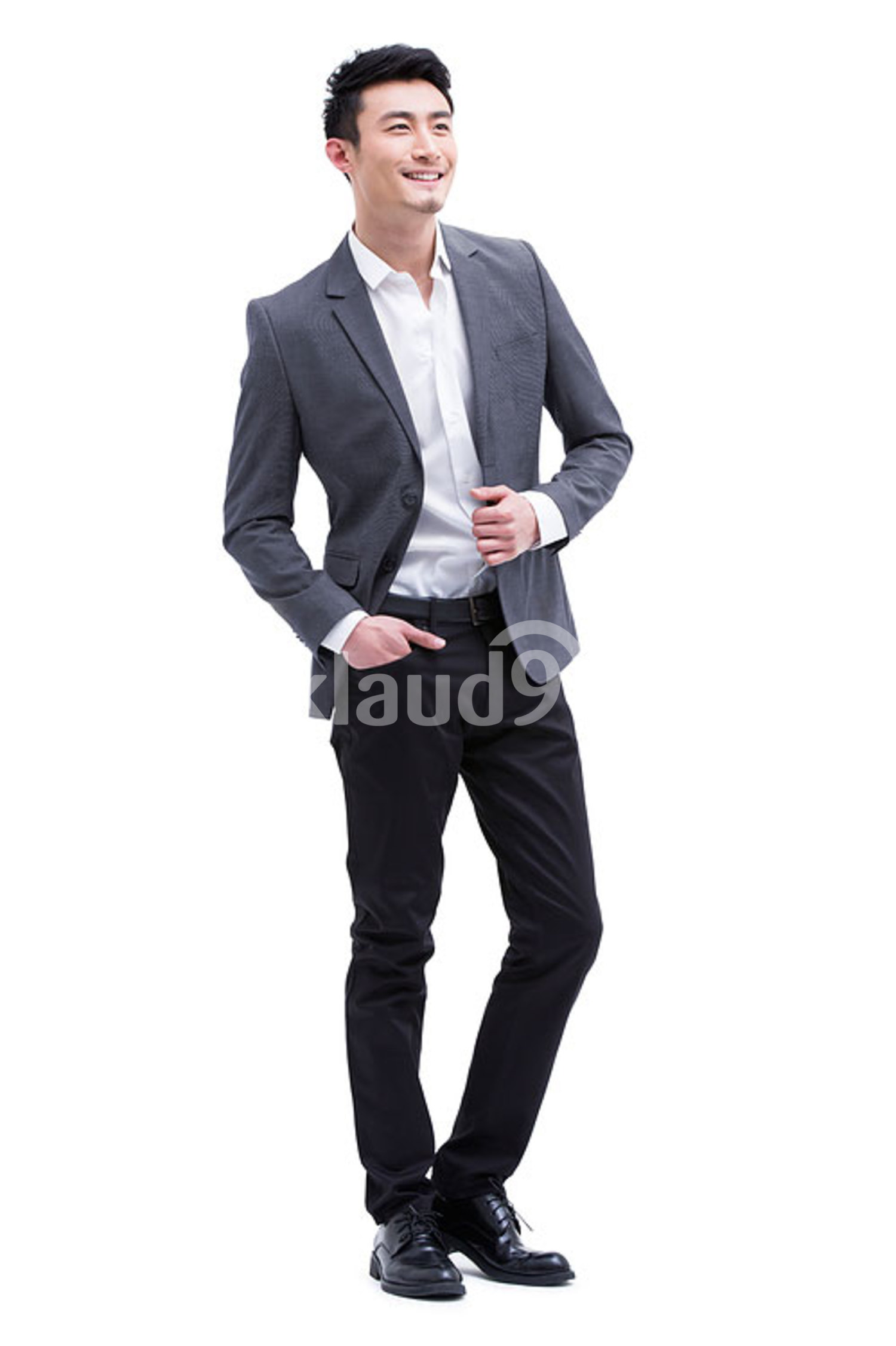 Portrait of fashionable Chinese businessman