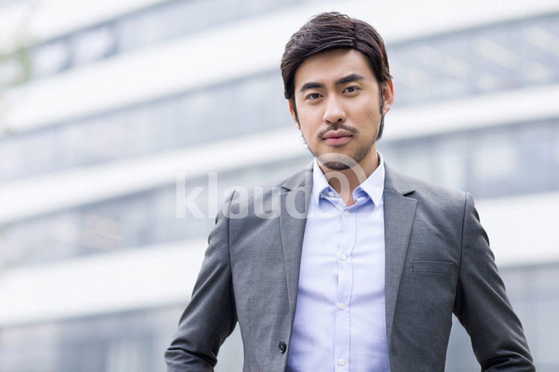 Portrait of confident Chinese businessman