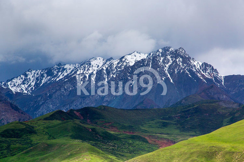 Qilian mountain in Qinghai province, China