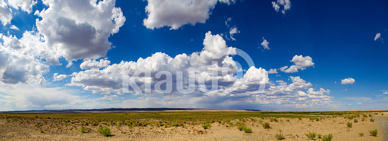 Sky and desert in Gansu province, China