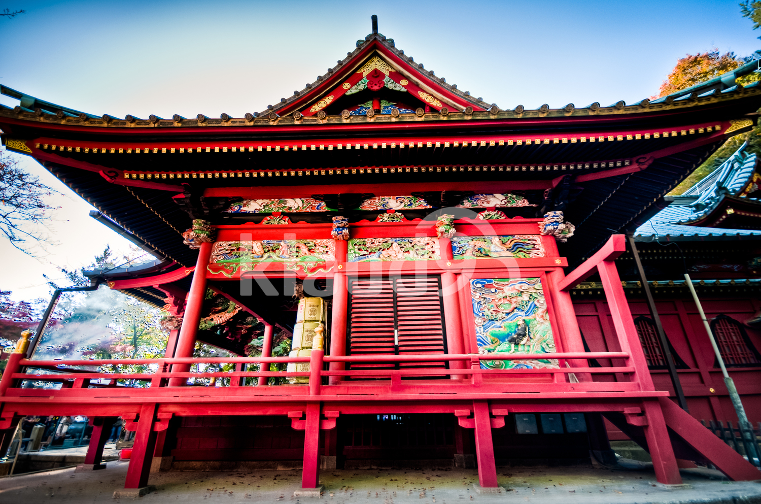 Beautiful traditional shrine at Tokyo, Japan