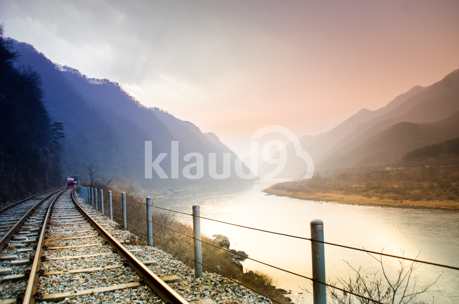 Rail, River and mountain