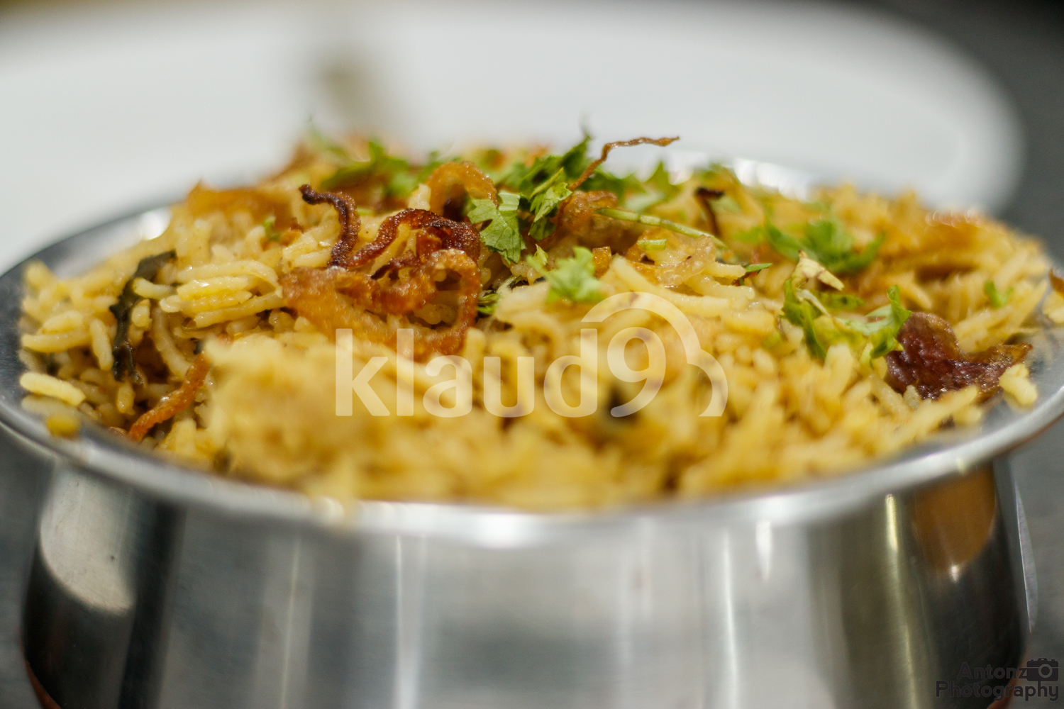 Briyani Rice in a pot