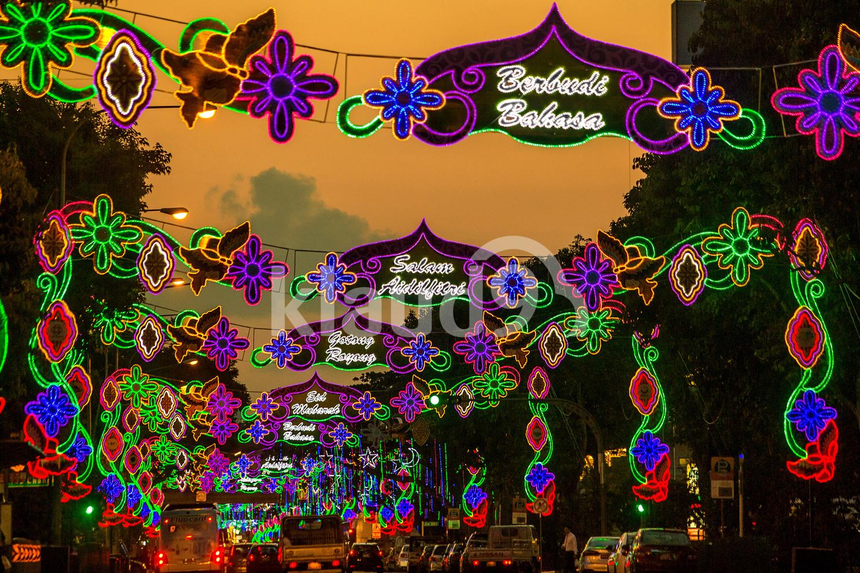 Beautiful street light up during Hari Raya in Singapore