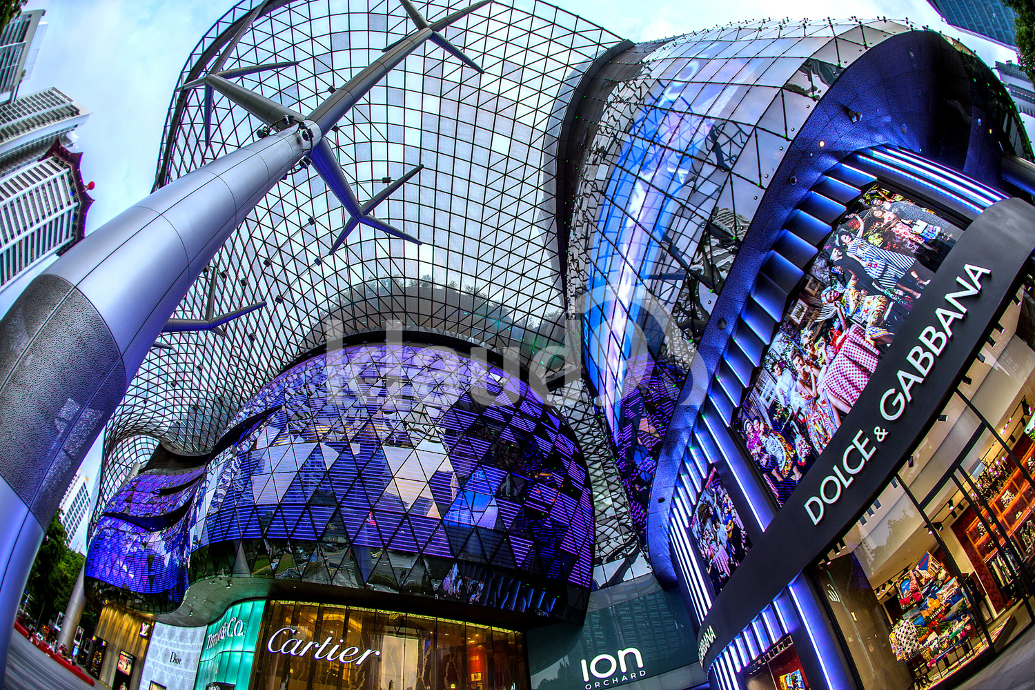 The facade of Ion Orchard Road, Singapore