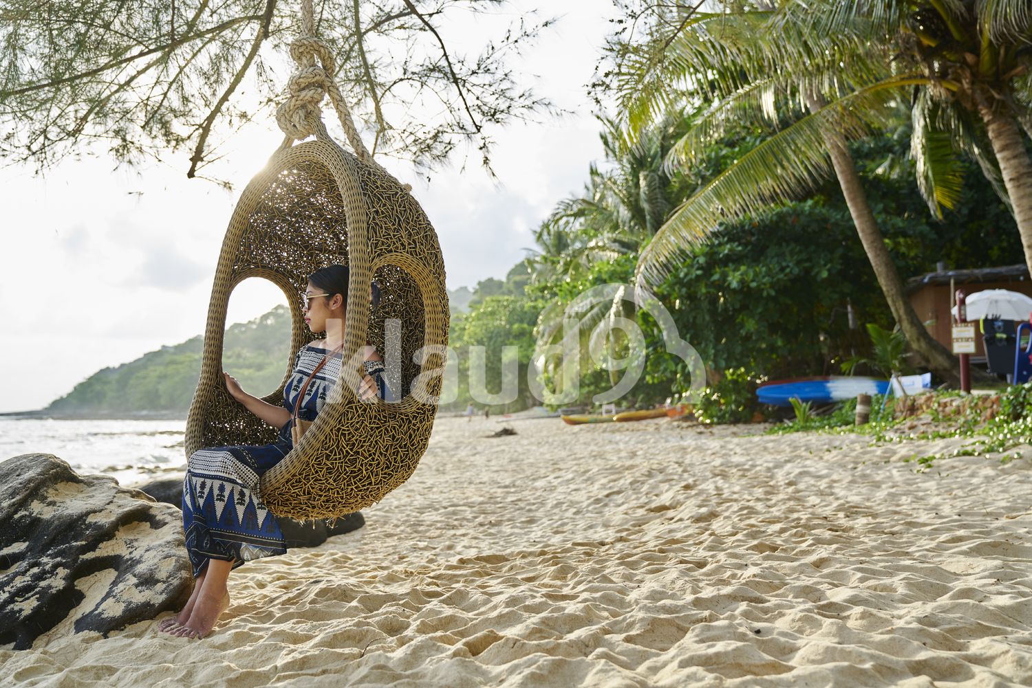 Young woman chilling by the beach in Koh Kood, Thailand