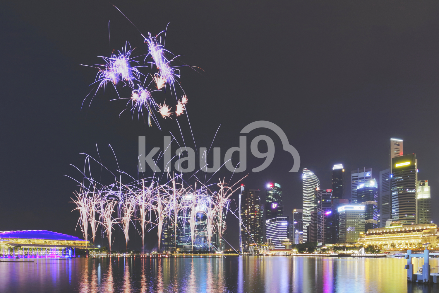 Singapore. Fireworks display.